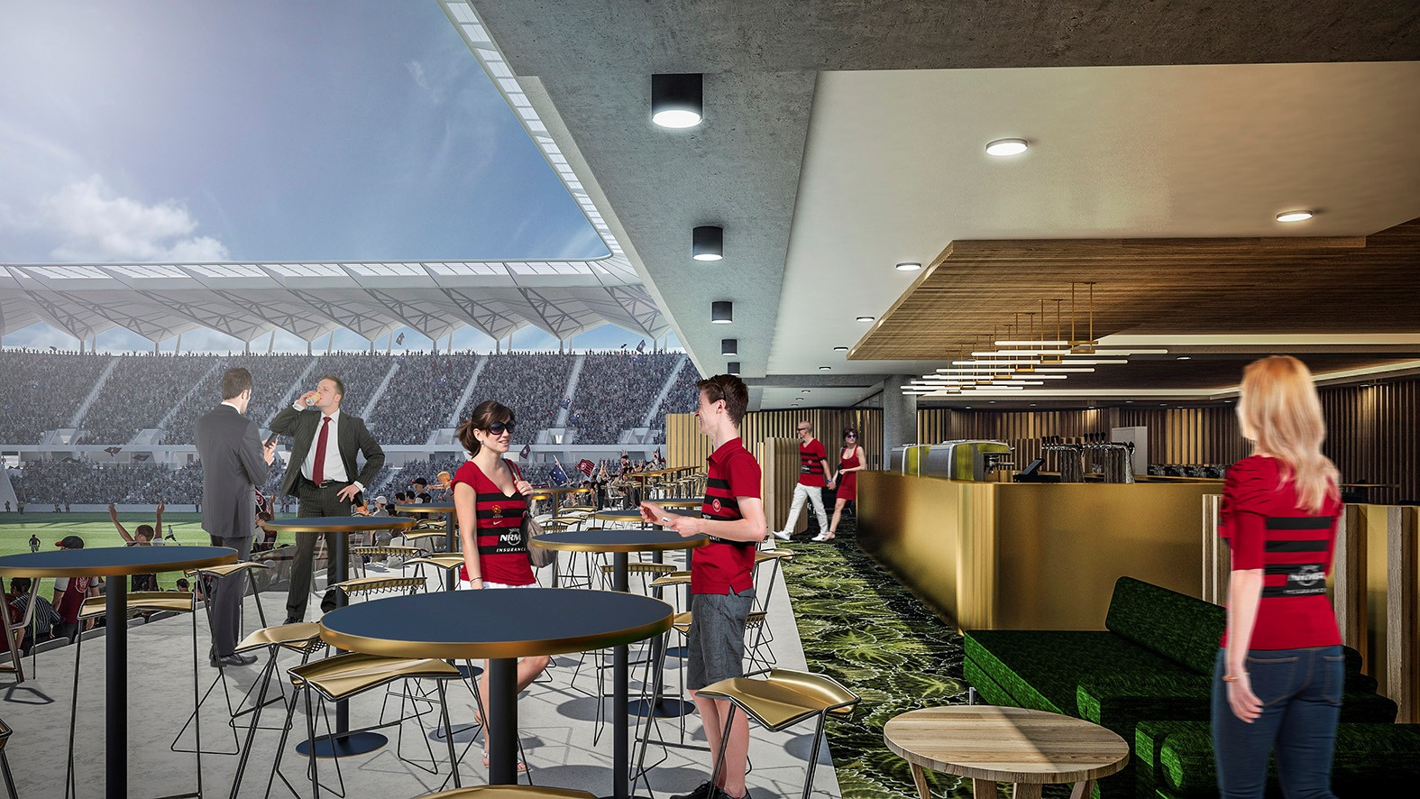 Artist Impression of lounge and suite at the new stadium